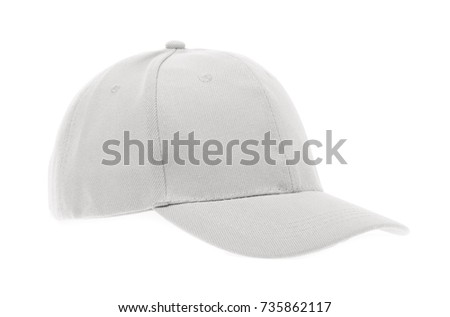 fashion a white cap isolated on white background.