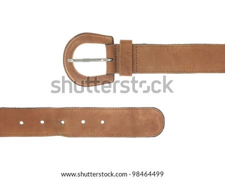 Fashion accessories isolated against a white background