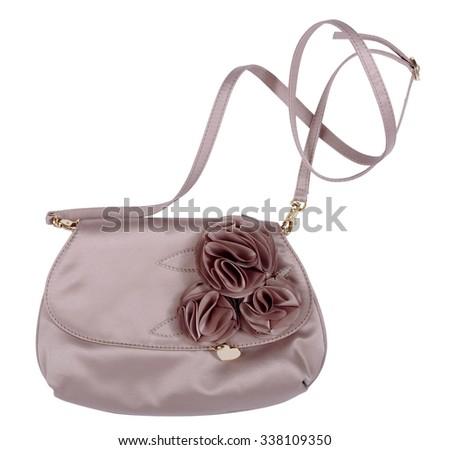 fashion bag isolated on white - stock photo
