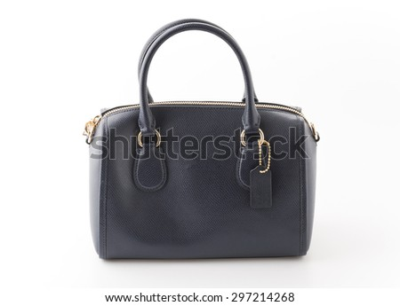 fashion bag on white background