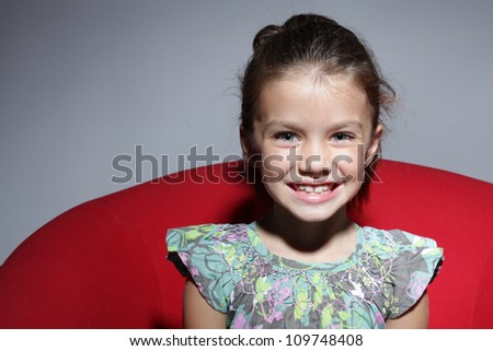 fashion beautiful little girl - stock photo