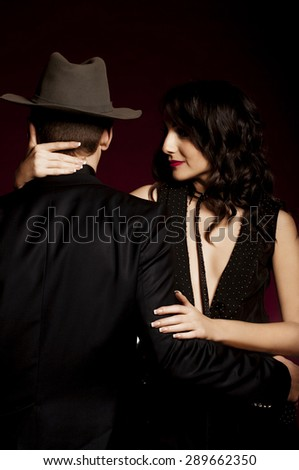 Fashion beautiful photo of man and woman