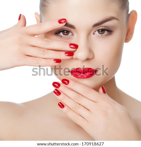 Long Red Nails Stock Images Royalty Free Images Vectors Shutterstock
