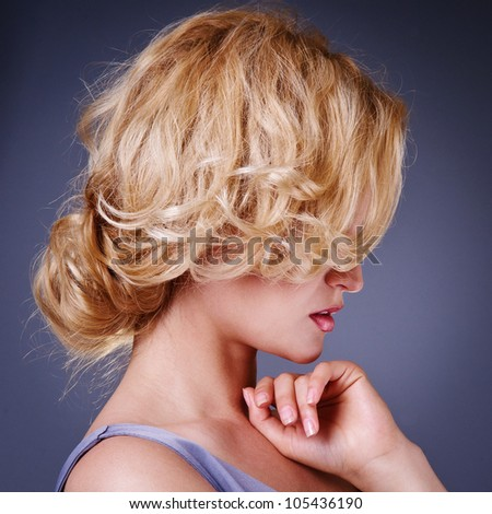 Fashion Beauty Portrait. Healthy Hair. Hairstyle