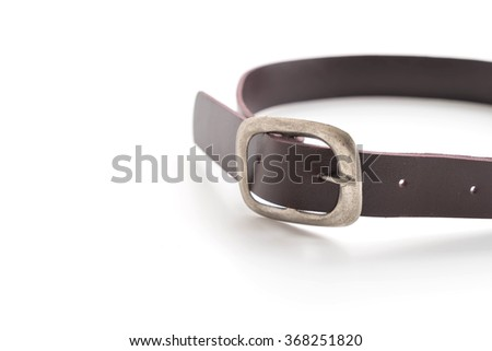fashion belt on white background