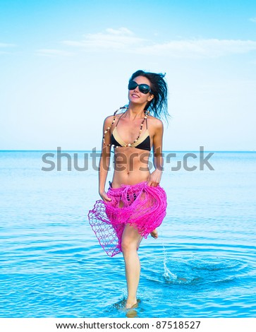 Fashion Bikini Beach - stock photo