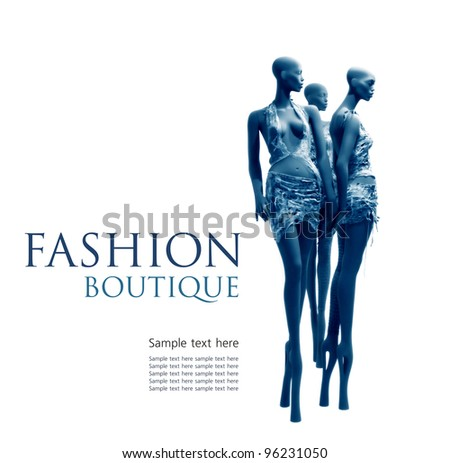 Fashion boutique background - stock photo