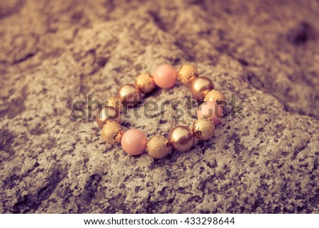 Fashion bracelet on the stone