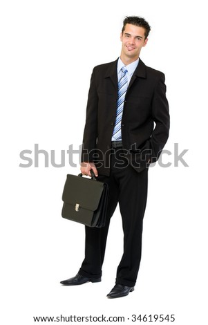 fashion businessman with briefcase