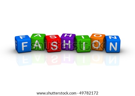 fashion (buzzword colorful cubes series)