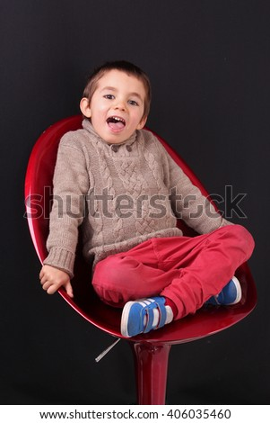 fashion child photo, fashion boy - stock photo