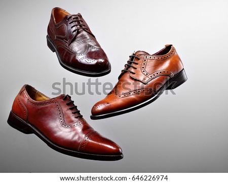 Brown Shoes Men Shiney