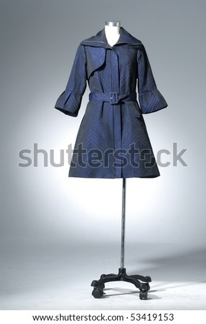 fashion clothing hanging as display - stock photo