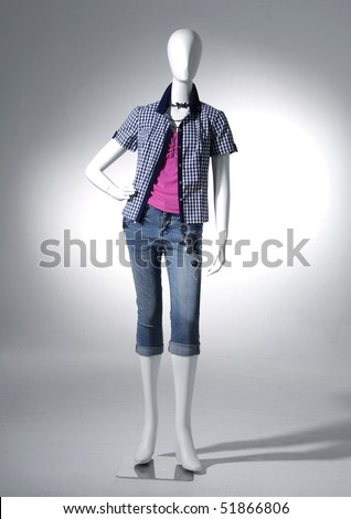Fashion clothing on mannequin - stock photo