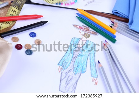 Fashion designer close up