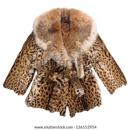 fashion fur coat - stock photo