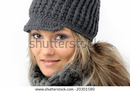 fashion girl with winter clothes