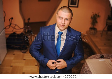 fashion groom aloune - stock photo