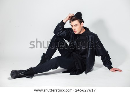fashion guy in the studio, attractive man