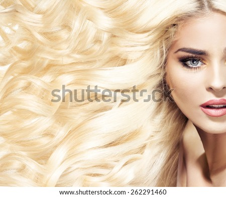 Fashion hairstyle portrait - stock photo