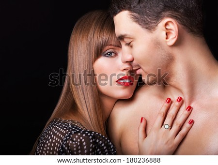 Fashion Happy Couple in Love - stock photo
