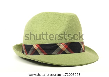 Fashion Hat in Green - stock photo
