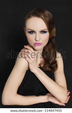 Fashion lady - stock photo