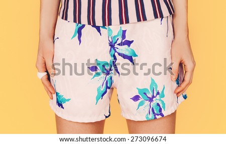 Fashion Lady. Beach style. Clothing for Vacations - stock photo