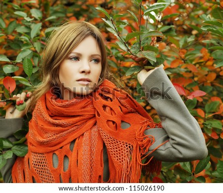 Fashion lady with makeup, glamour beauty - stock photo