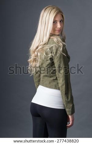 Fashion leggings backside - stock photo