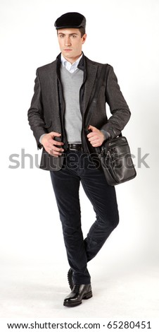 fashion man - stock photo