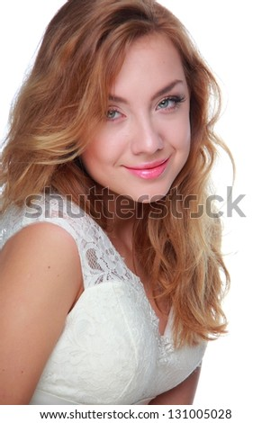 Fashion model girl is posing/Portrait of a happy girl with long, healthy hair