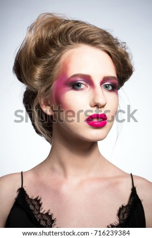 Fashion model makeup