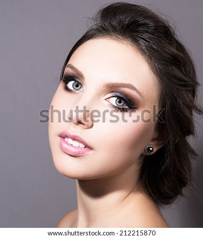 Fashion model with professional make up