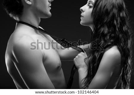 Fashion Naked Couple - stock photo