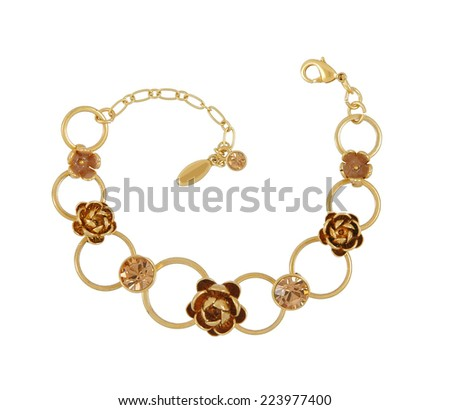 fashion necklace isolated on white background - stock photo