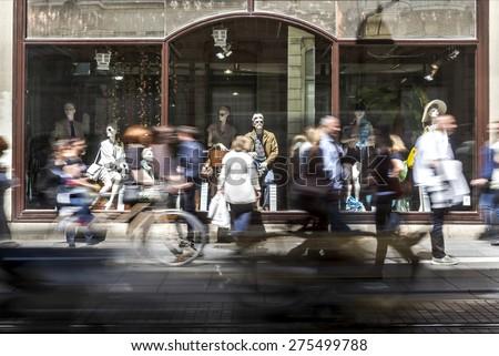 Fashion observers - stock photo