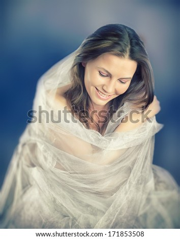 Fashion photo of beautiful lady - stock photo