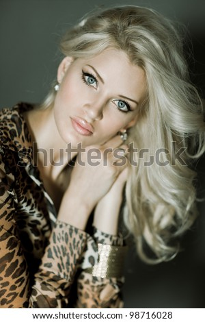 fashion pictures of a beautiful woman - stock photo
