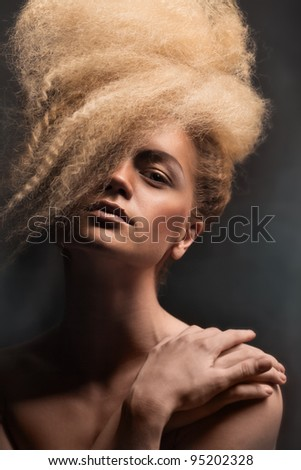 fashion portrait of a girl portrait, girl, hair, face