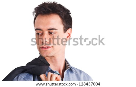 Fashion portrait of a young man - stock photo