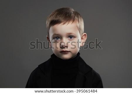 fashion portrait of child. handsome little boy.spring wear fashionable kids - stock photo