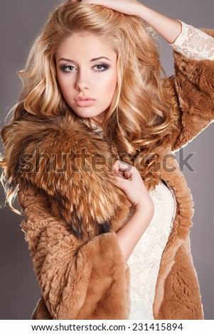 Latvian Woman Winter Coat Portrait 38