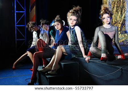 Fashion project, retro style. - stock photo