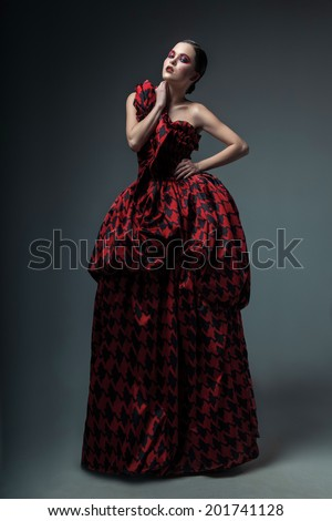 fashion red dress