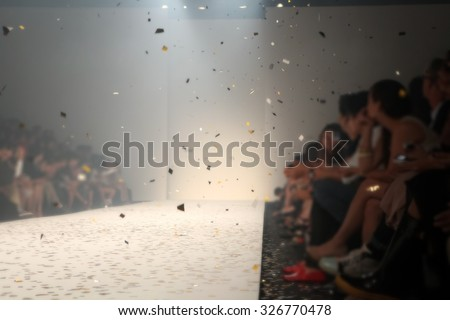 Fashion runway out of focus,blur background  - stock photo