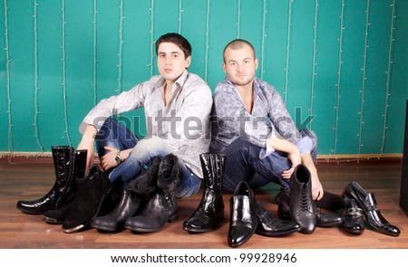 Fashion Shot of a trendy European men dressed in contemporary cloth.
