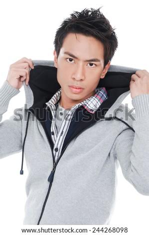 Fashion Shot of a young man - stock photo