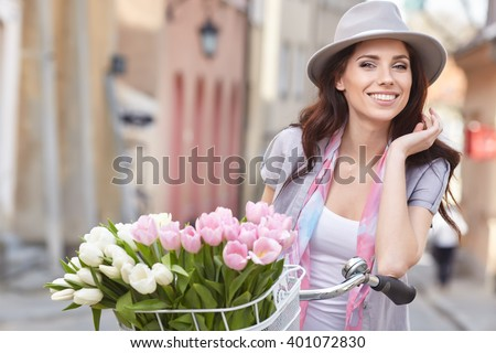 Fashion style photo of a spring women  - stock photo