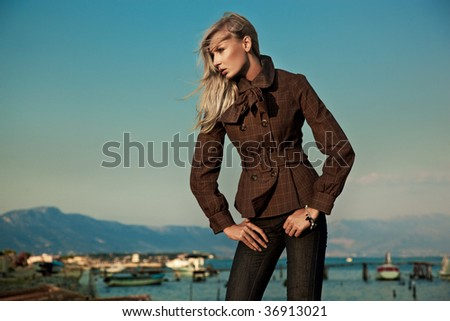 Fashion style photo of a young beauty - stock photo